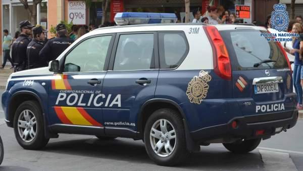 Una patrulla de la Policía Nacional en las calles de la capital