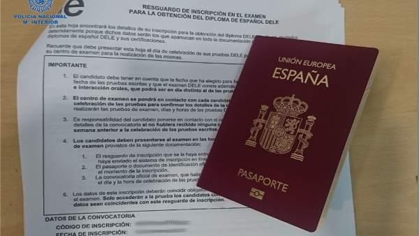 Pasaporte intervenido