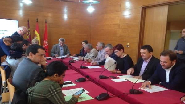 El PSOE en la reunión