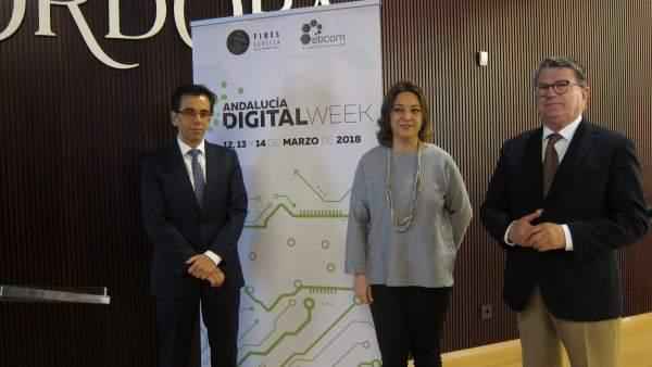 Isabel Ambrosio, Manuel Ortigosa y Fernando Rodríguez del Estal