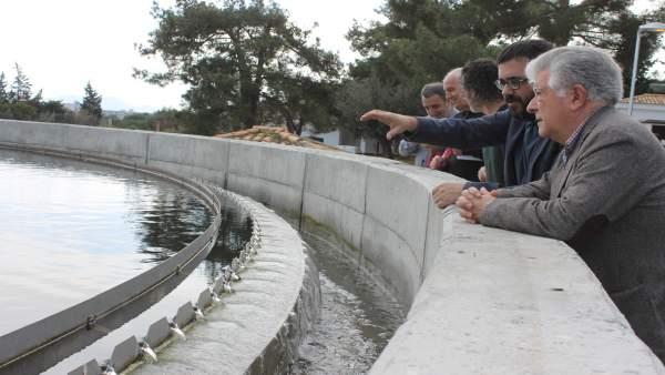 Visita del conseller Vidal a la depuradora de Alcúdia