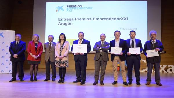 Entrega de los premios EmprendedorXXI Aragón.
