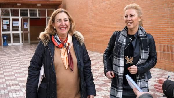 España y Valmaña. PP. En el Rectorado de la UMA.