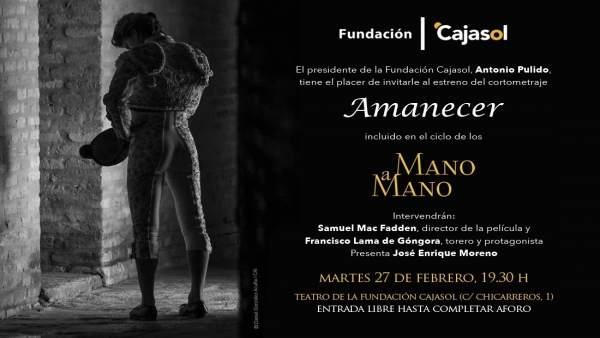 El ciclo 'Mano a mano' de la Fundación Cajasol
