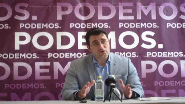 El secretario de Podemos Galicia, Juan Merlo