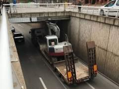Camión atascado