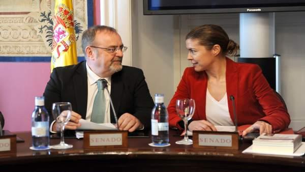 Fernando Rey, junto a la senadora por Zamora Clara San Damián