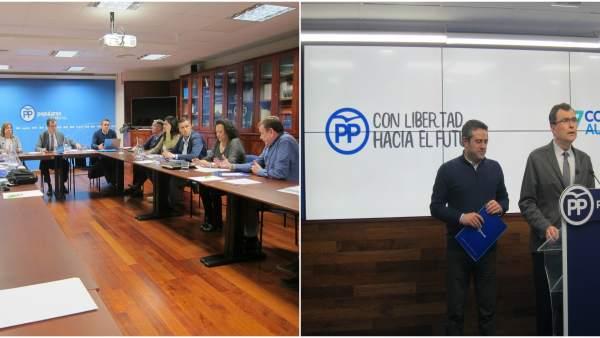 Comité Organizador y de Ballesta anunciando el lema y los comunicados