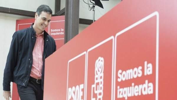 Pedro Sánchez en la reunión del Comité Federal en Aranjuez