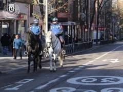 La Policía Municipal patrulla a caballo zonas de Latina ante el aumento de la delincuencia
