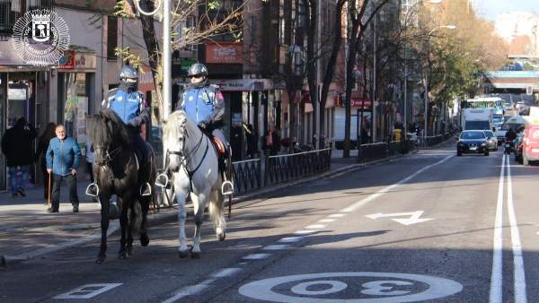 Policía Municipal a caballo