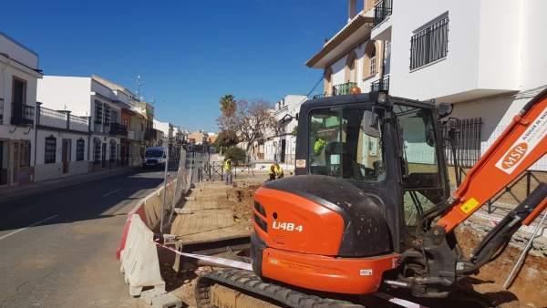 Comienzo de las actuaciones en la Avenida de Andalucía
