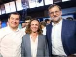 Juanma Moreno, Rocío Díaz y Mariano Rajoy