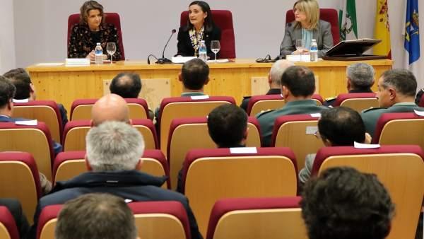 La nueva jefa de Tráfico en huelva, Cristina Gago, toma posesión.