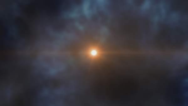 Imagen artística de la estrella J0023+030
