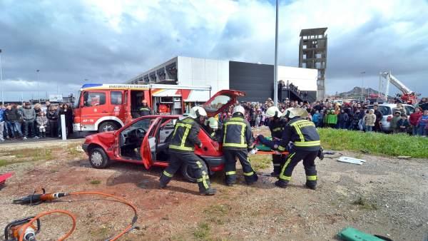 Simulacro de los bomberos