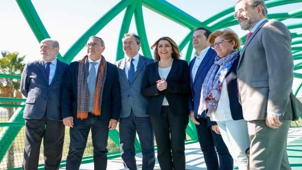 Inauguración de la pasarela de la SE-30