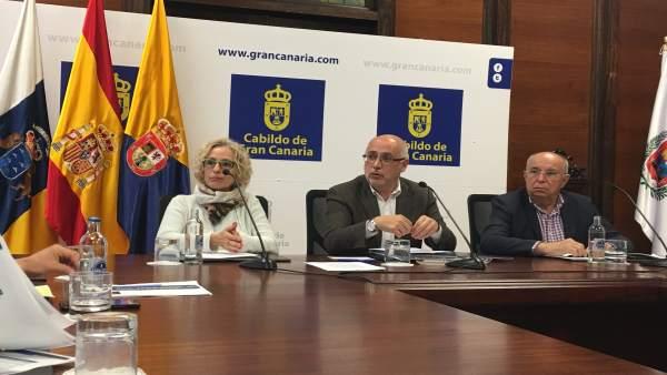 Rueda de prensa en el Cabildo de Gran Canaria
