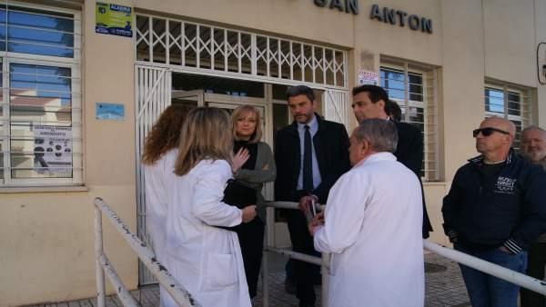 Visita PSOE a San Antón