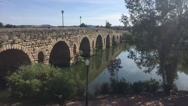 Puente romano sobre el Guadiana de Mérida