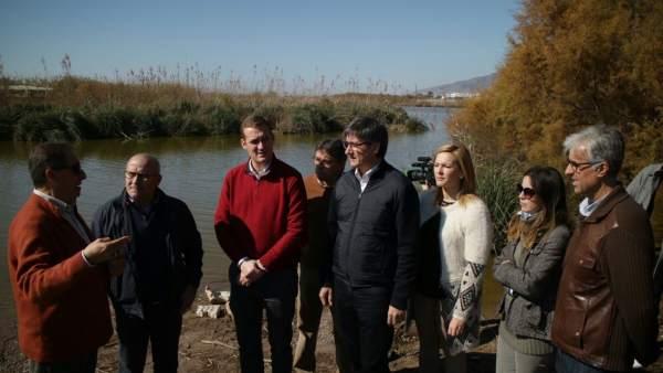 Visita a las obras de regeneración del Río Adra, en Almería