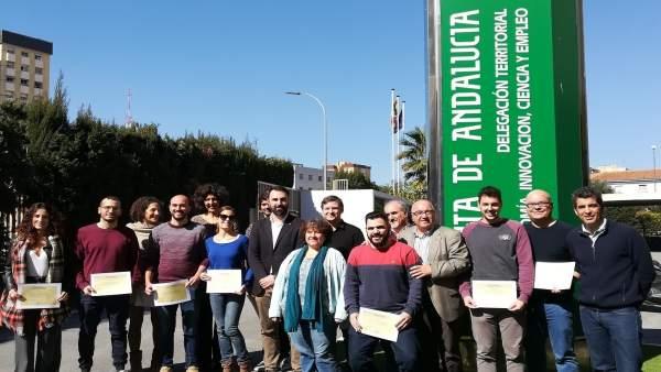 Emprendedores formados en el proyecto Lunar de la Junta en Málaga