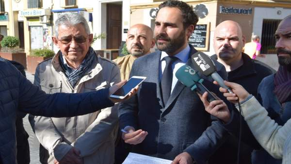 Daniel Pérez, portavoz del PSOE en el Ayuntamiento