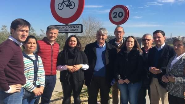El PP critica la 'nefasta' gestión del carril bici entre Valencina y Salteras