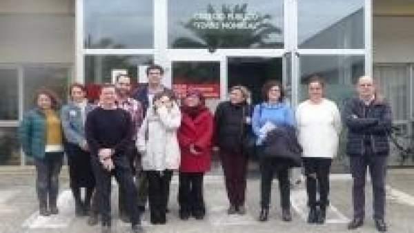 Visita al colegio en Tudela.