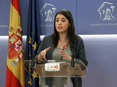Irene Montero, portavoz de Unidos Podemos en el Congreso de los Diputados.