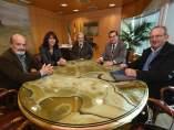 Reunión de los responsables del Banco de Alimentos y de la Diputación de Granada