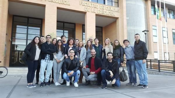 Acto del PSOE en universidad de Málaga