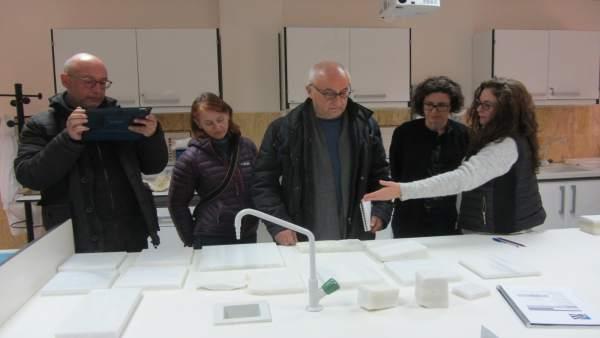 El equipo encargado del proyecto del patio de Vélez Blanco visita la EMA