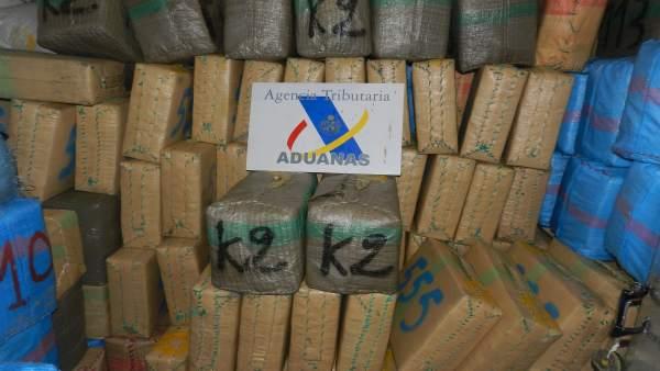 Droga intervenida en La Línea en 2017