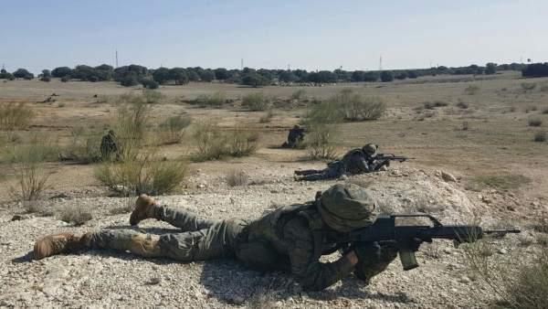 Adiestramiento de soldados en Chinchilla (Alicante)