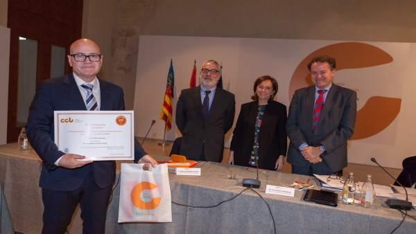 Entrega del Sello del Consejo de Cooperación Bibliotecaria al IES Maria de Molin