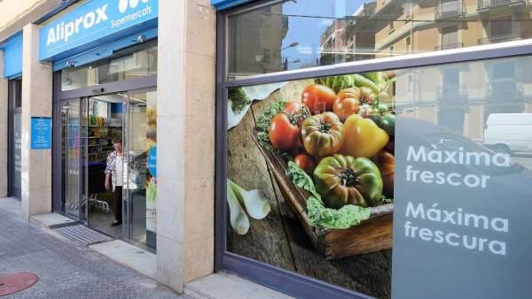 Supermercado de Caprabo bajo la enseña Aliprox