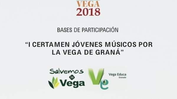 Cartel de las bases del Certamen Jóvenes Músicos por la Vega de Granada