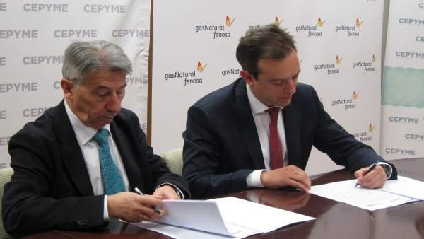 Isart y López de Hita han firmado el acuerdo este miércoles en la sede de CEPYME