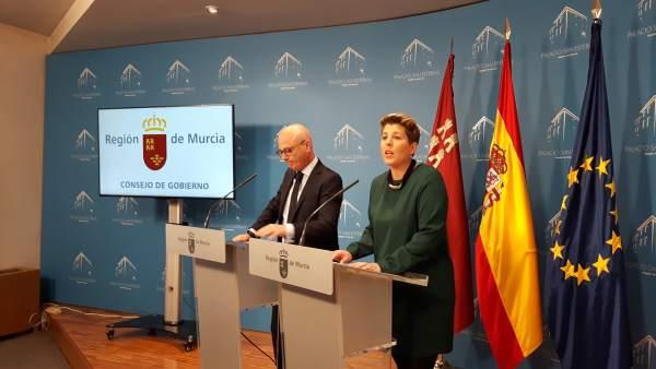 Noelia Arroyo, en la rueda de prensa del Consejo de Gobierno