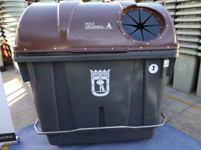 Contenedor marrón del Ayuntamiento de Madrid