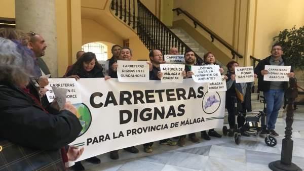 Vecinos de Málaga exigen mejoras en las carreteras