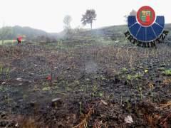 Pasto quemado en Karrantza