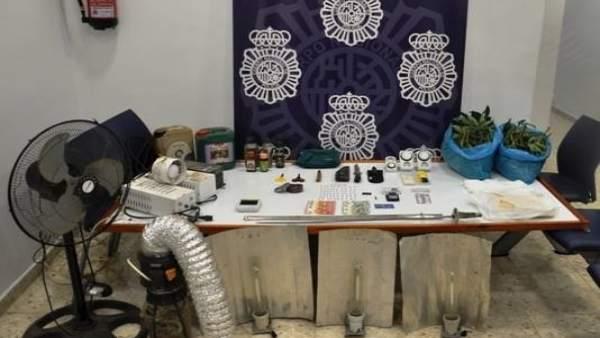 Desmantelado punto de venta de droga en Ronda