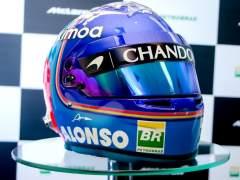 Alonso muestra el diseño de su nuevo casco para el Mundial de F1