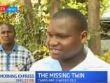 Padres del bebé robado del hospital Kenyatta National, Kenia.