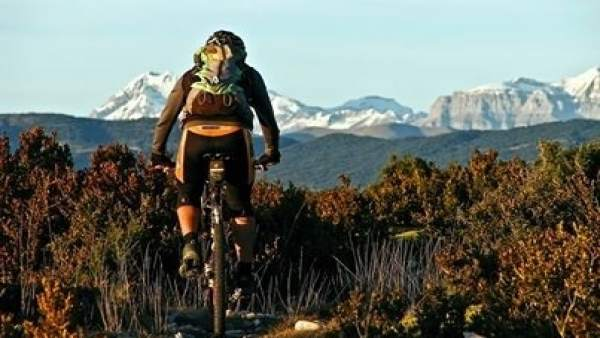 Bicicleta en la montaña