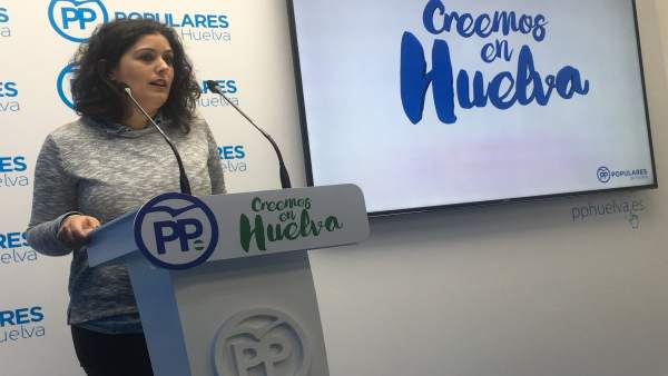 La vicesecretaria de Sociedad del Bienestar del PP de Huelva, Laura Sánchez.