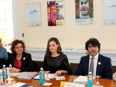 La reina Letizia en una reunión de trabajo sobre la situación de la Violencia de Género en España