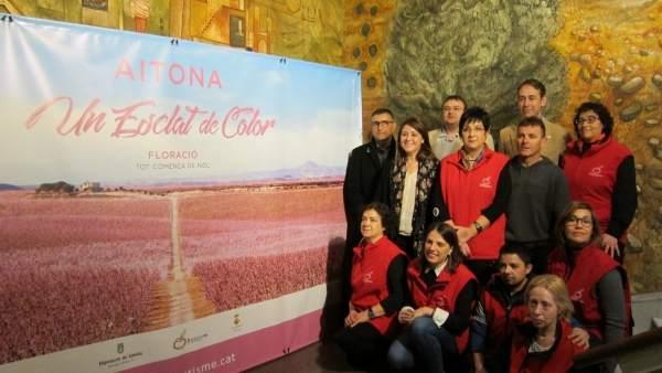 Presentación de la campaña turística de floración de frutales en Aitona